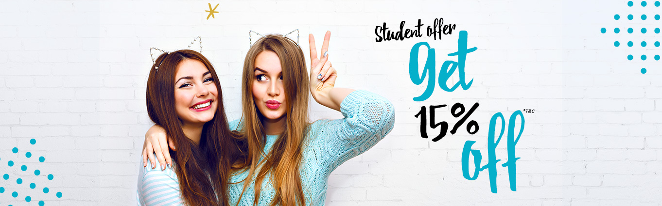 Student Offer - 15%off